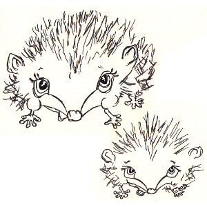 Picture-book hedgehog Corduroy and his mother Velvet feature in this colouring page.