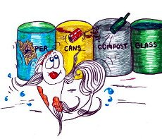 Fish recycling  - illustration from the free children's picture book 'David Goes Green!'